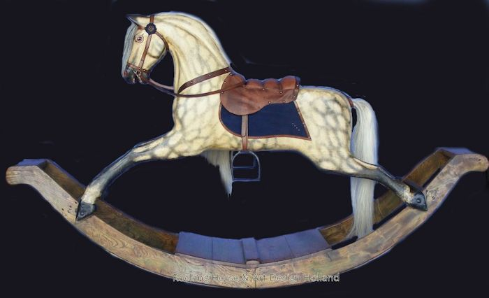 Old Fashioned Wooden Rocking Horse For Sale